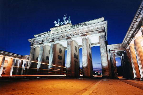 Langzeitbelichtung des Brandenburger Tors