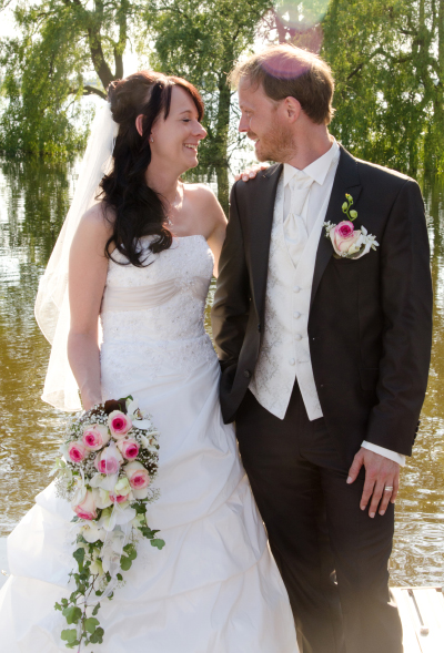 Hochzeitsfoto bei Hochwasser
