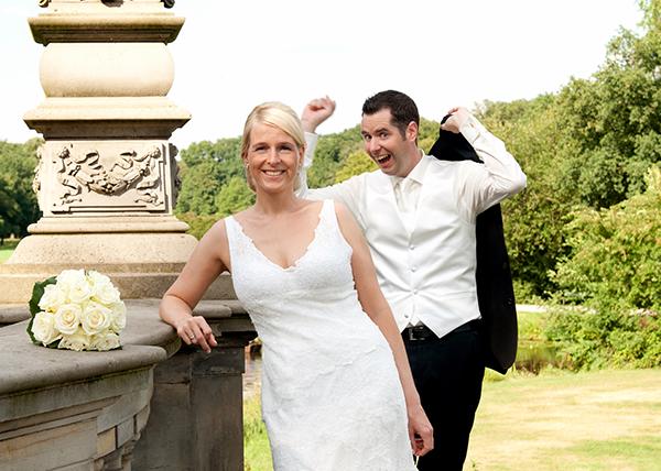 Fröhliches Hochzeitsshooting