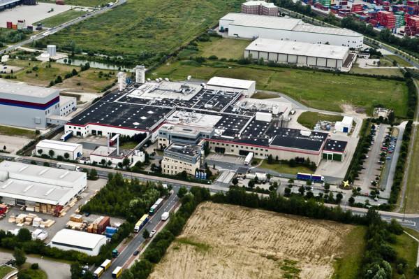Luftaufnahme des Oyter Industriegebietes