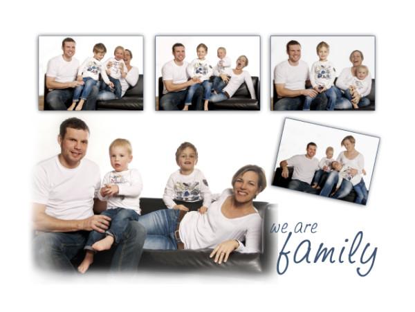 Collage mit verschiedenen Bildern einer Familie
