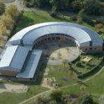 Luftbild eines Gebäudes