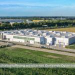 Luftbild eines Gebäudes im Oytener Industriegebiet