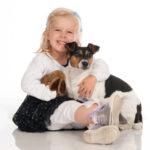 Portrait vom Mädchen mit Hund