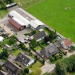 Luftbild über einer Wohnsiedlung