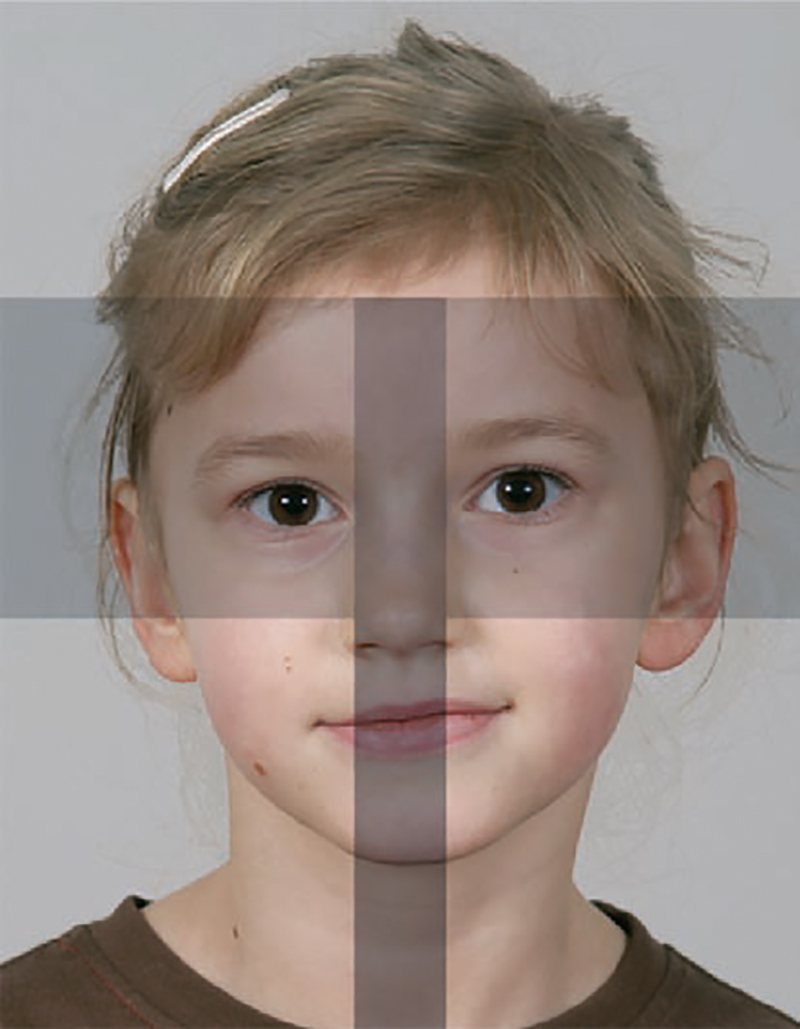 Passbildschablone Kinder