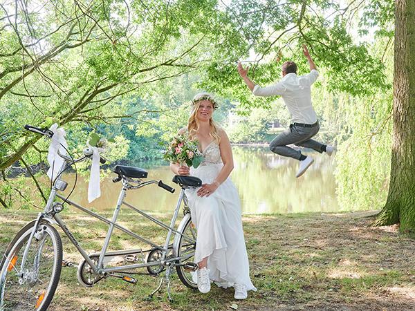 Große Freude des Bräutigams